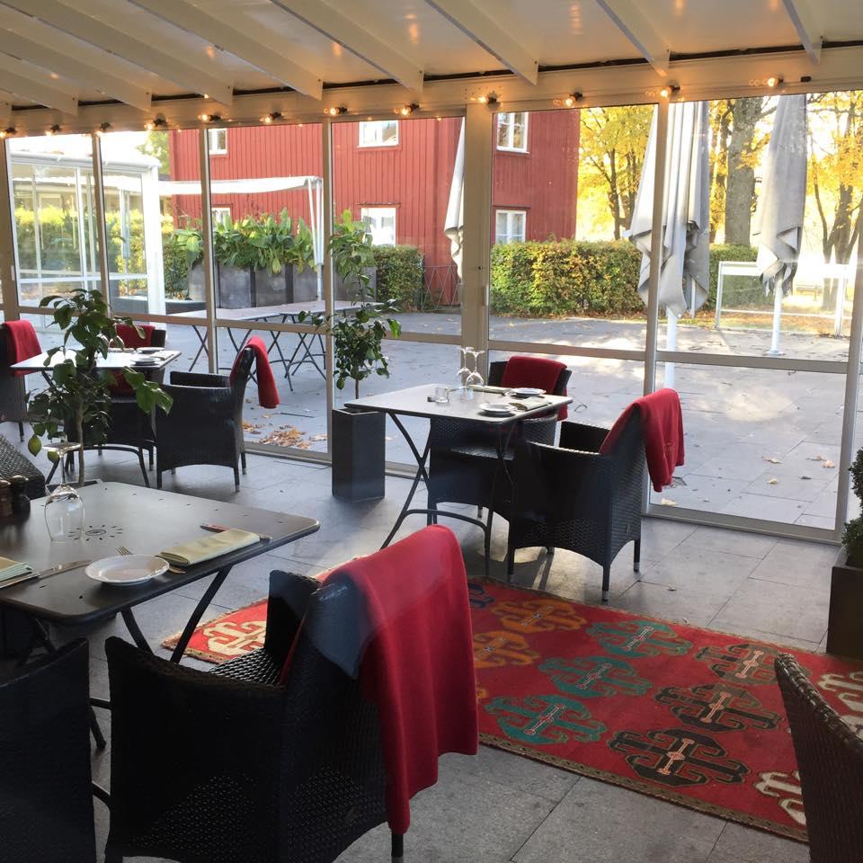En del av restaurangen på Villa Källhagen