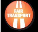 Wir unterstützen Fair Transport, eine Initiative der schwedischen Organisation für  Straßentransport für solide Transporte von gesunden Transportunternehmen