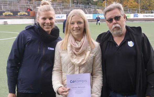 Emma Nilsson från Mölnlycke IF är en tidigare vinnare av 'Go Kompis'-priset, som delas ut av Bostadsbolagets. Nu har du chansen att nominera den du tycker ska ha priset i år! Foto: MICHAEL LUND