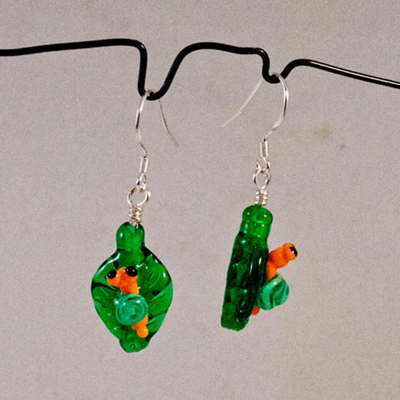 Sniglar på löv grön och orange örh 2