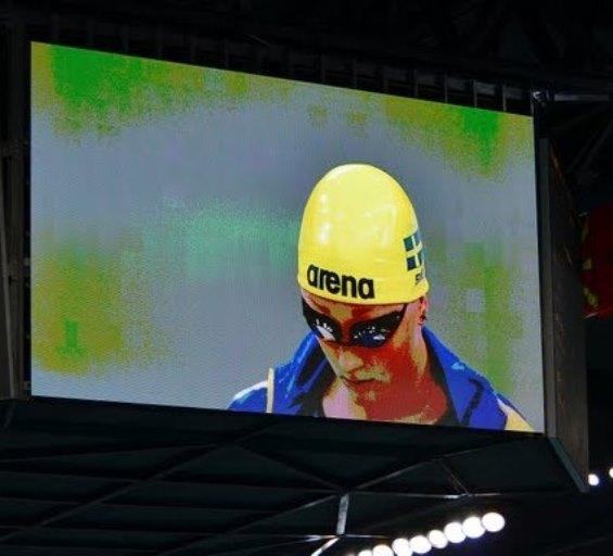 Jessica Billquist simmade 100m bröstsim i dagens försökstävlingar