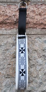Keltisk kors silver-svart