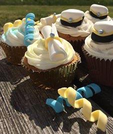 tårtdekorationer, spiraler av socker, sockerdekorationer för tårta och cupcakes