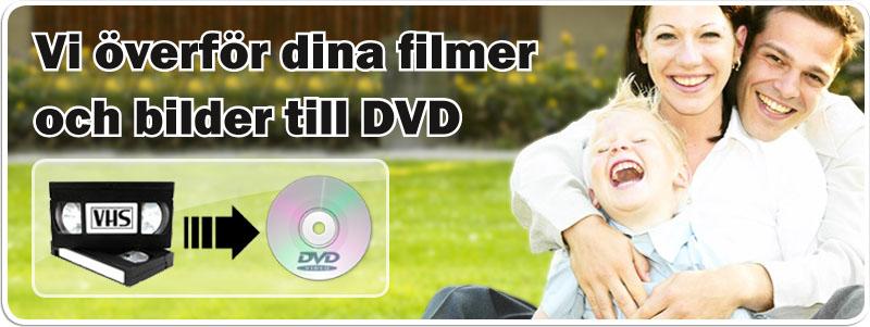 Överför VHS till DVD hos familjefilm. Hi 8 till DVD. Video 8 till DVD. Ljudkassett till CD. Smalfilm till DVD. Smalfilm till hårddisk.