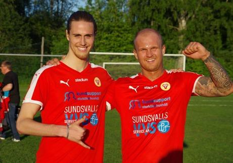 Dennis Bergström såg med sitt tidiga ledningsmål att luta över segern till Sund i Alnösundsderbyt. Arkivfoto: Lokalfotbollen.nu.