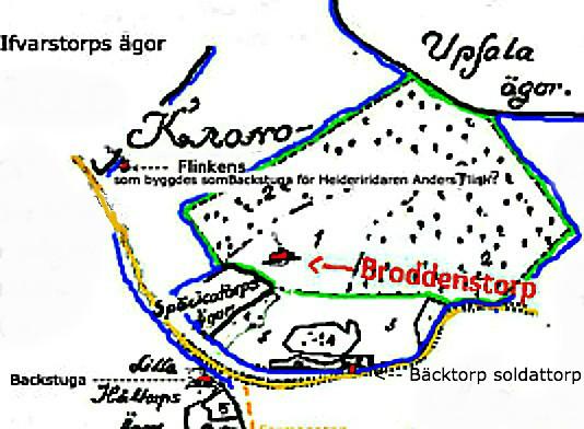 (Grundkarta från lantmäteriet Historiska Kartor)