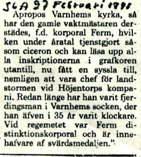 Klipp ur Gunborg Ferms samling, Ljungstorp, 2013