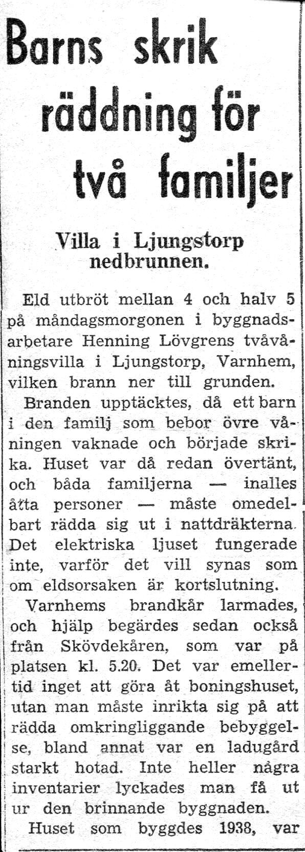 Urklipp från Sten Lövgrens album, Kungälv 2015