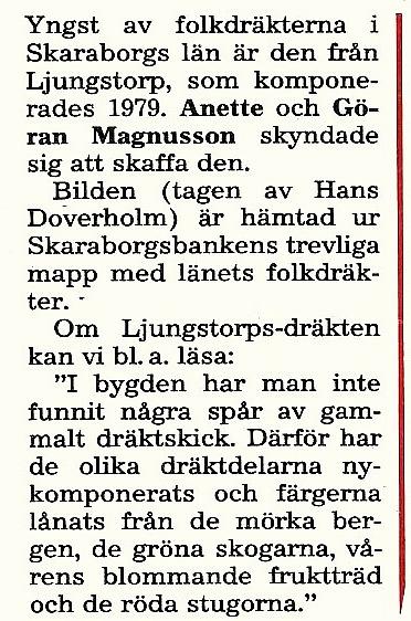 Urklipp från Verna Anderssons samling, Ljungstorp, 2017