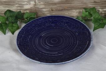 assiett-blå assiett-porslin