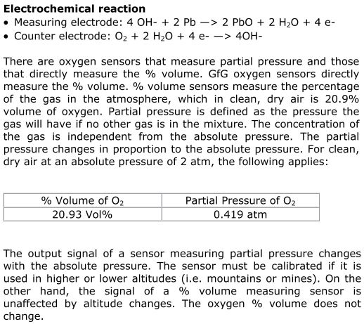 Sensor reaktion