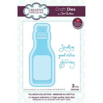 Creative Expressions Craft Dies Message in a Bottle