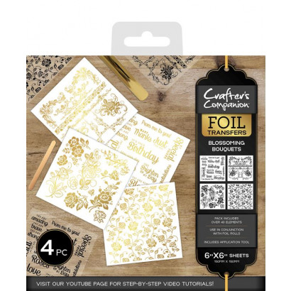Crafter's Companion Foil Transfers - Blossoming Bouquets