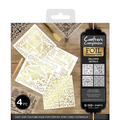 Crafter's Companion Foil Transfers - Delicate Details