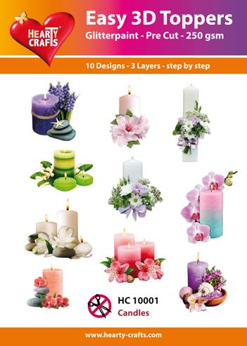 Easy 3D Utstansat - Candles