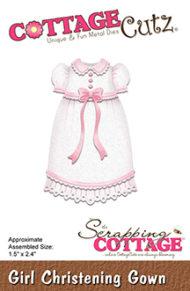 Cottage Cutz Dies - Girl Christening Gown - Cottage Cutz Dies - Girl Christening Gown