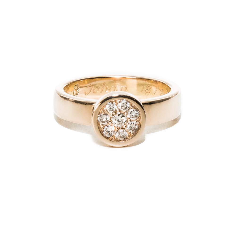 Diamantring i guld