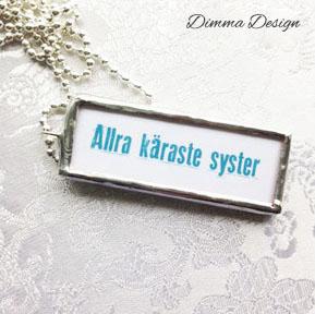 Lött smycke Allra käraste syster 1 - Lött smycke Allra käraste syster 1