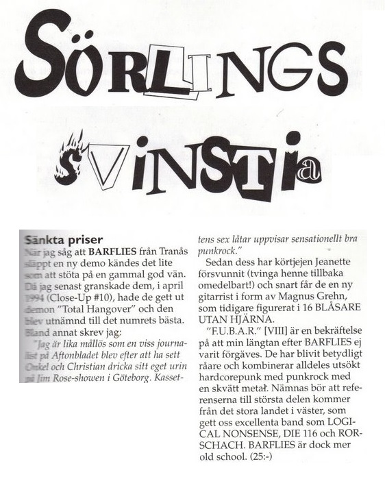 Från Close-Up Magazine #18 (maj 1996)