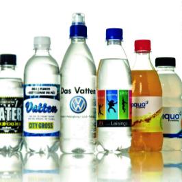 Dryck med logo