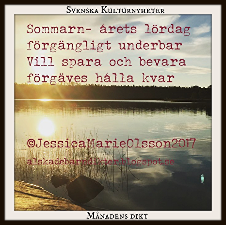 Månadens dikt sep. 2017 av Jessica Olsson @jessicasdikter på Instagram