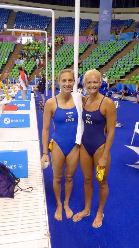 Jessica Eriksson tv, gick vidare till semifinalen på 100m bröstsim idag men Vilma Ekström misade den hårfint!!!