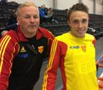 Tom med coach Uffe