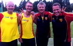 Peter, Anssi, Lasse och Johan med färskt klubbrekord