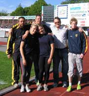 Våra segrare: Mattias - Axel -  Bengt - Calle - Sandra och Frida. Foto: Kenneth Andersson