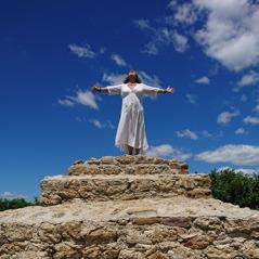 Änglavingar on the top of the pyramid of the Sun