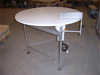 Roterande bord med skiva