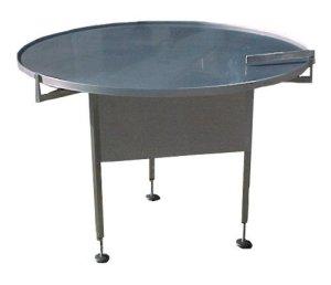 Roterande bord med rostfri skiva