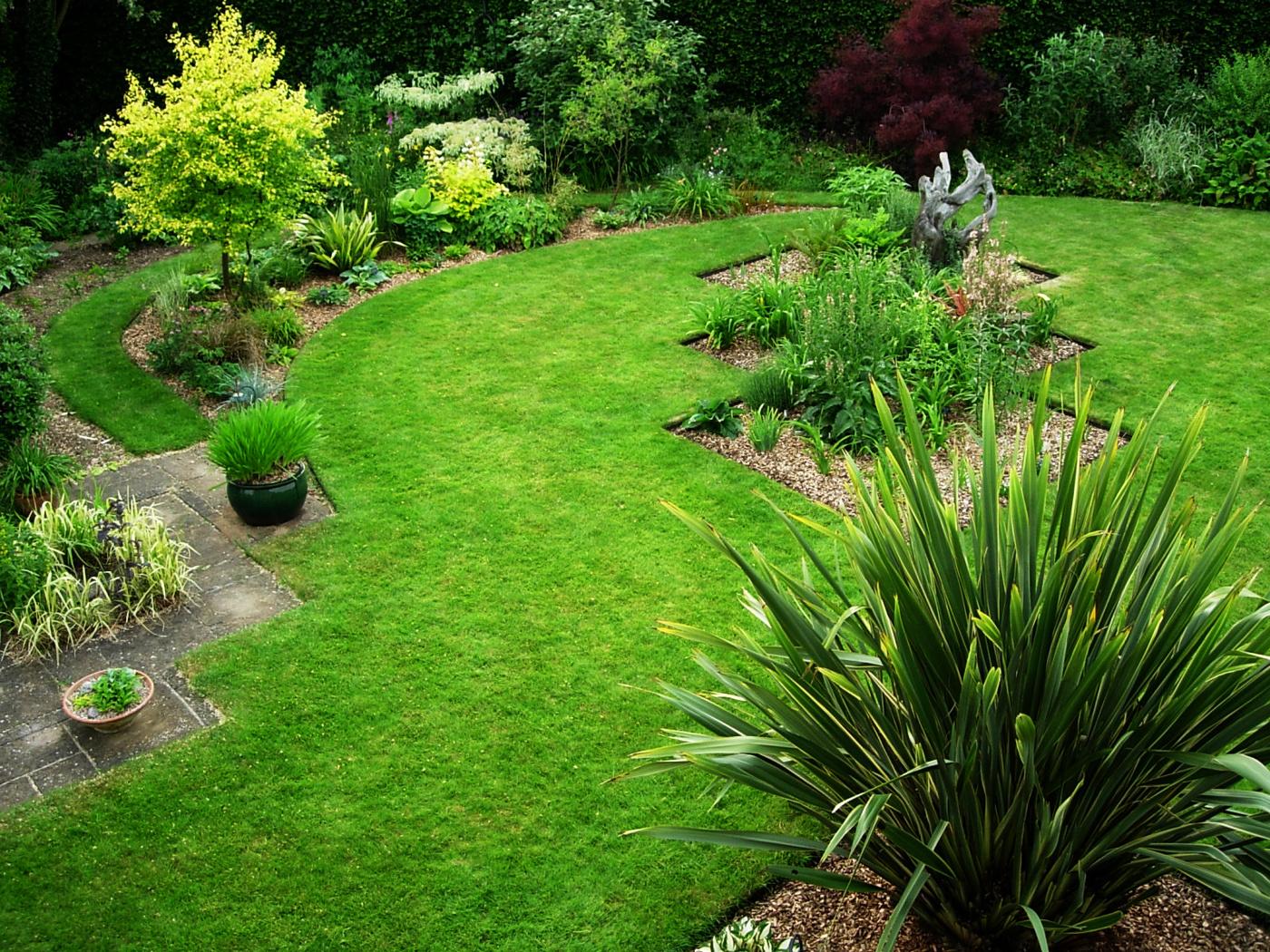 gräskantavskiljaren i trädgård