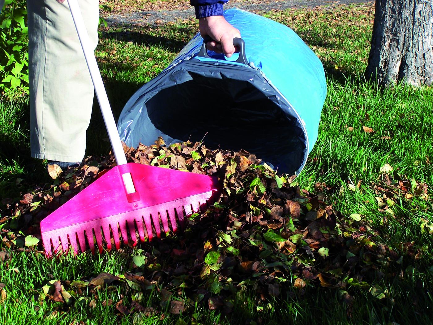 Lövräfsa enkelt med ctwix i din trädgård