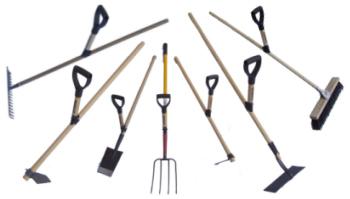 superhandtaget till olika redskap för din trädgård, gård