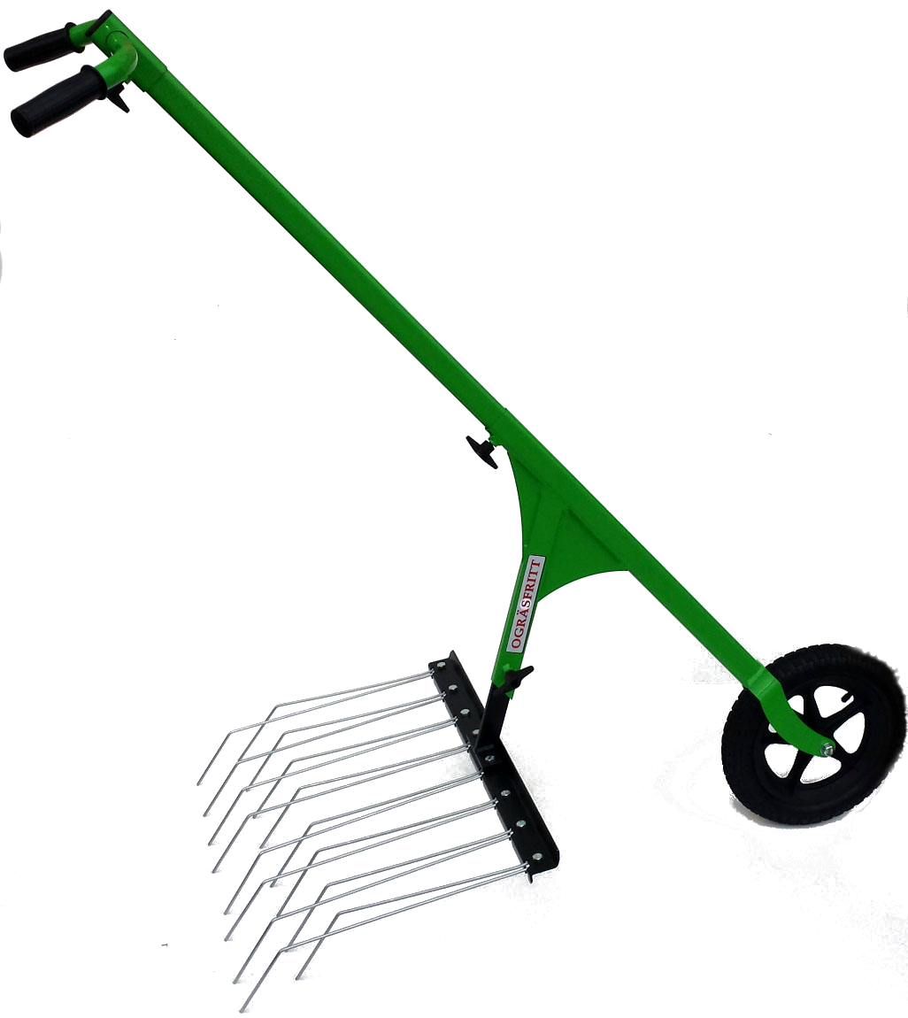 Ogräsharv på hjulhackan ogräsfritt