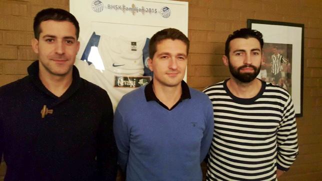 Ernes Haracic, Nerim Suman och Edin Zverotic.