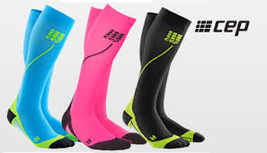 CEP Run Socks 2,0 - Rosa/svart, stl 3