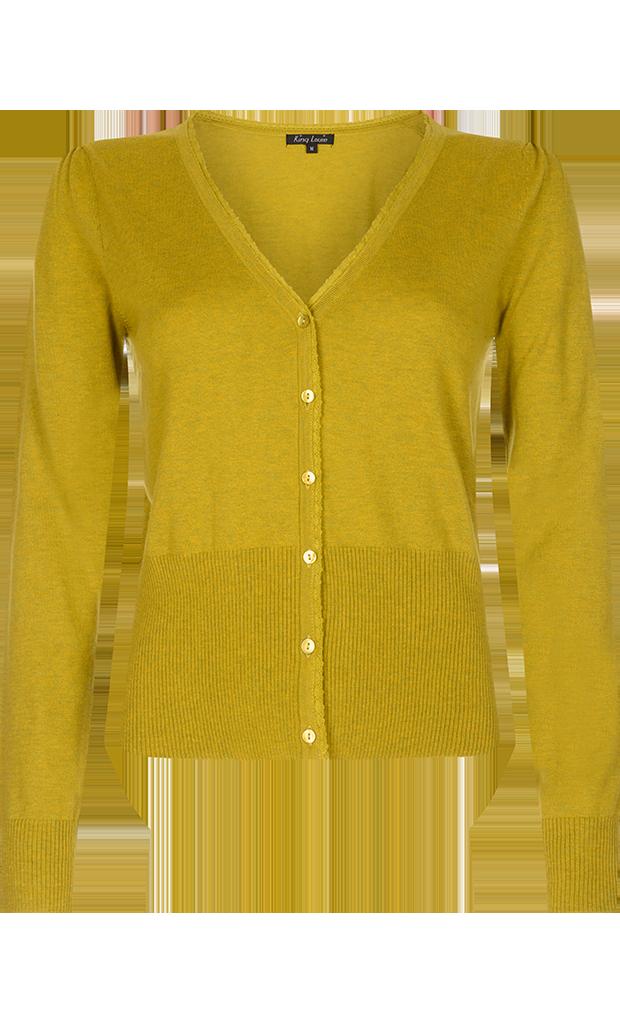Tant Sofia-Kofta Summer  Yellow V-ringad