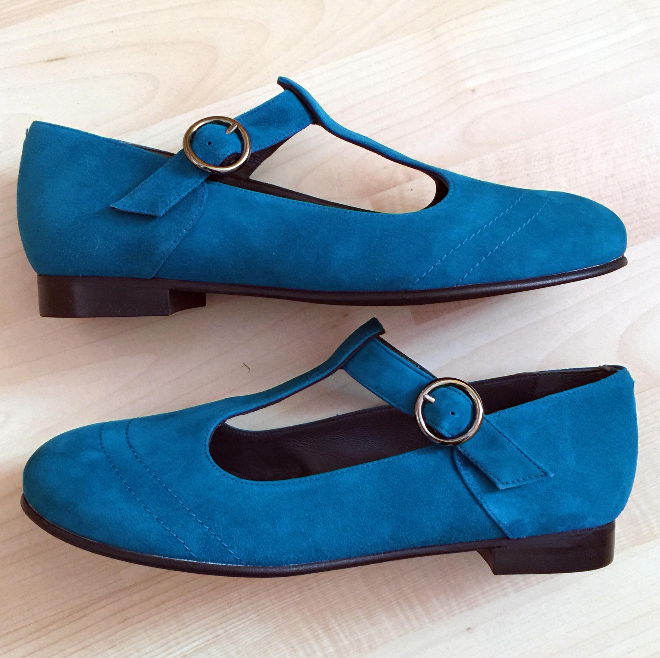 Tant Sofia-Saga Teal suede - Nordic Shoepeople