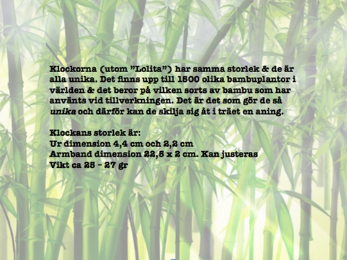 "Bambuklocka ""Verde"""