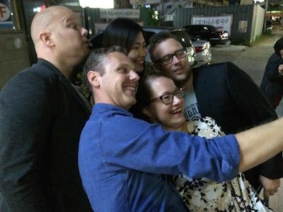 Och så fick vi till en Selfie, eller vad man ska kalla det...