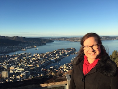 View over the the Norwegian west coast city: Bergen
