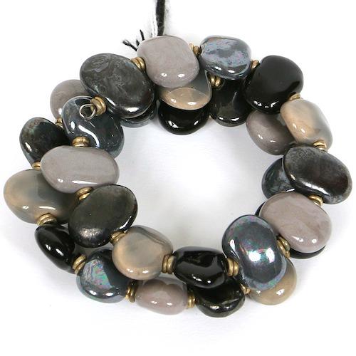 Bracelets Flat - 3-strand Dark m.o.p.