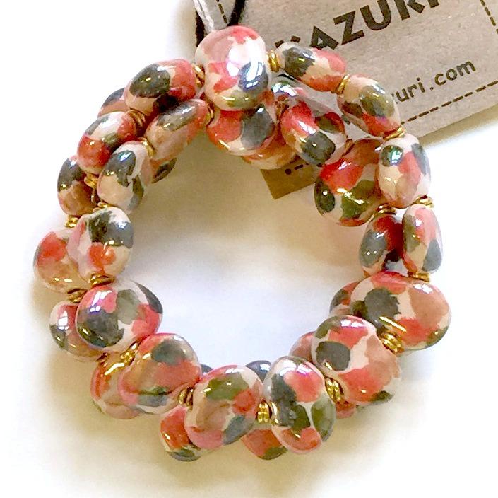 Bracelets Flat - Fudge:G.Wood:Cinna:Rosso:G.390