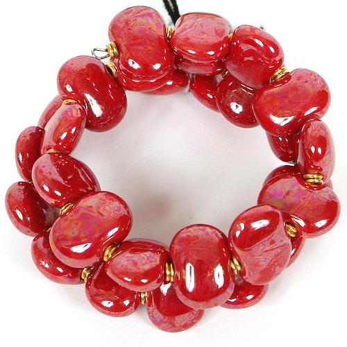 Bracelets Flat - Bright red m.o.p.