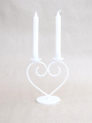 Ljusstake/Candle Holder - Hjärta/Heart - Ljusstake Hjärta/Candleholder heart - Vit/White