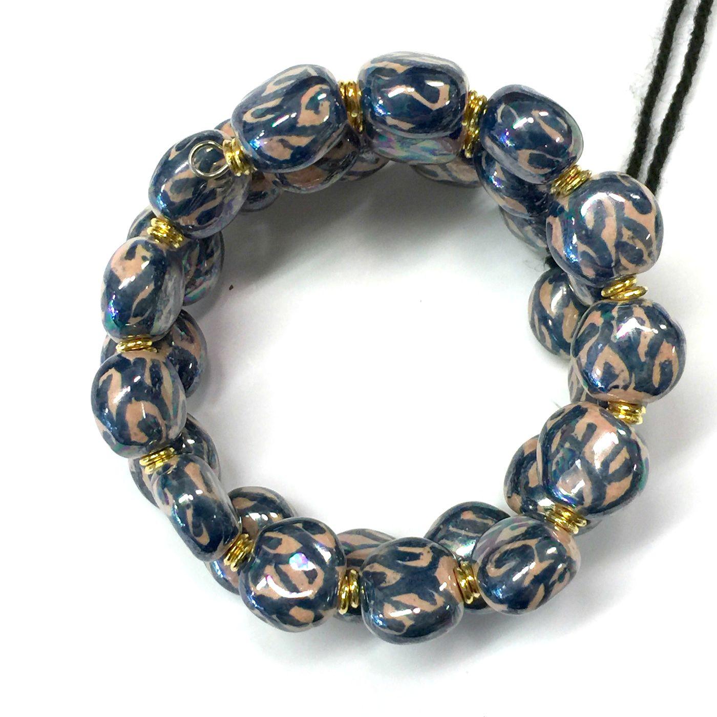 Bracelets smarty- Vivid Orange/Midnight Blue