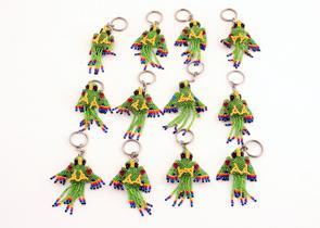 Nyckelring Papegoja grön