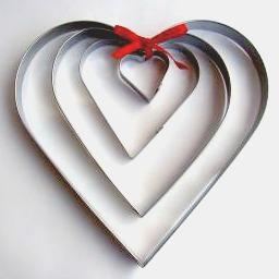 Pepparkaksmått set av 4 st Hjärta